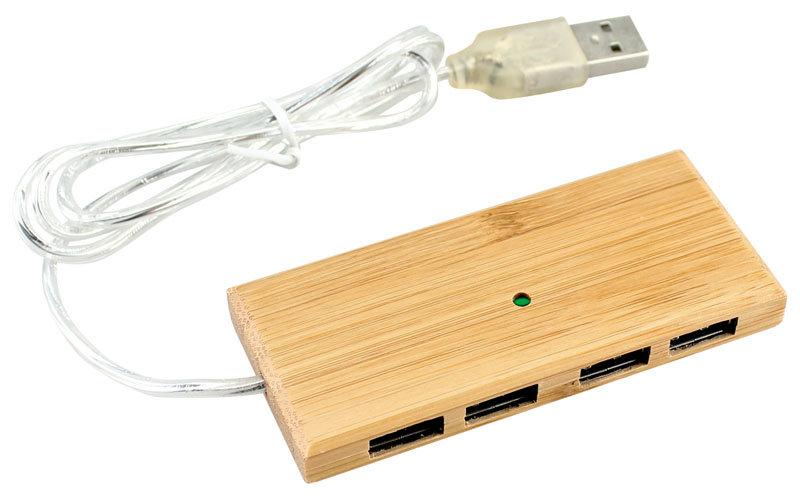 E49 - HUB 4 Puertos USB de Bamboo