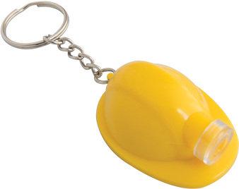 llavero casco con luz amarillo