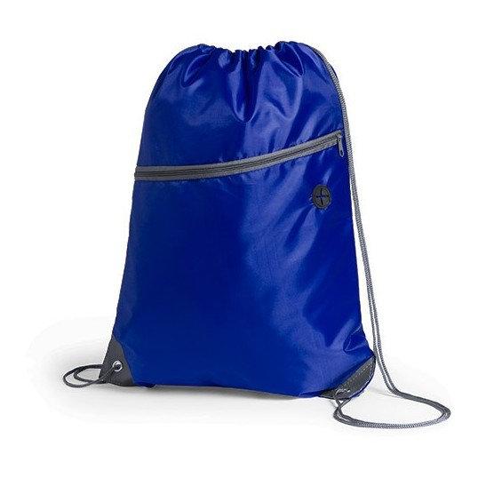 mochila con cierre azul
