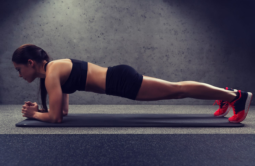 Perfect flawless plank exercise