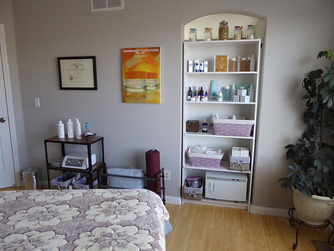 Cozy home skin care room at a private house for relaxing anti-aging facials skin by tatyana