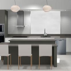 Cocina moderna de colores neutros