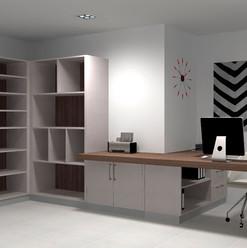 Mueble de escritorio y estantes