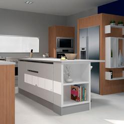 Cocina con isla y diseños abiertos