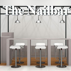Muebles a la medida para manicure en centro comercial
