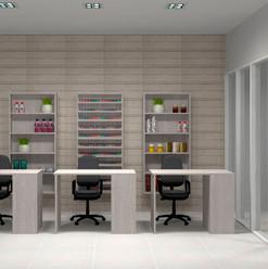 Muebles a la medida para área de manicure