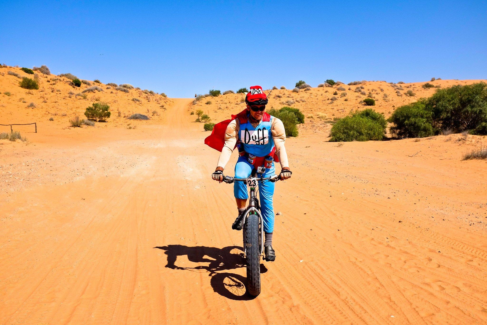 Duffman rides Muru
