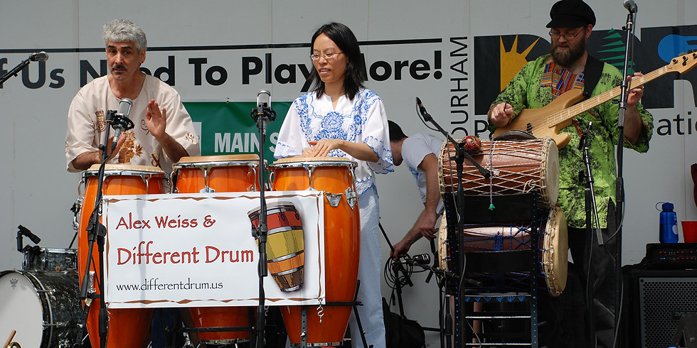 Different Drum out on the Lawn for Sunday Brunch
