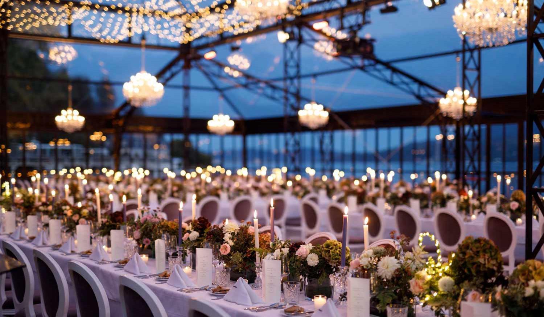 Private Wedding Dekoration, Lichttechnik Luster