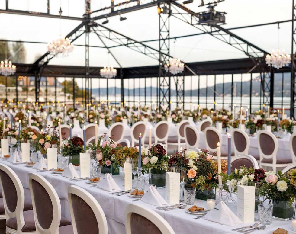 Private wedding decoration