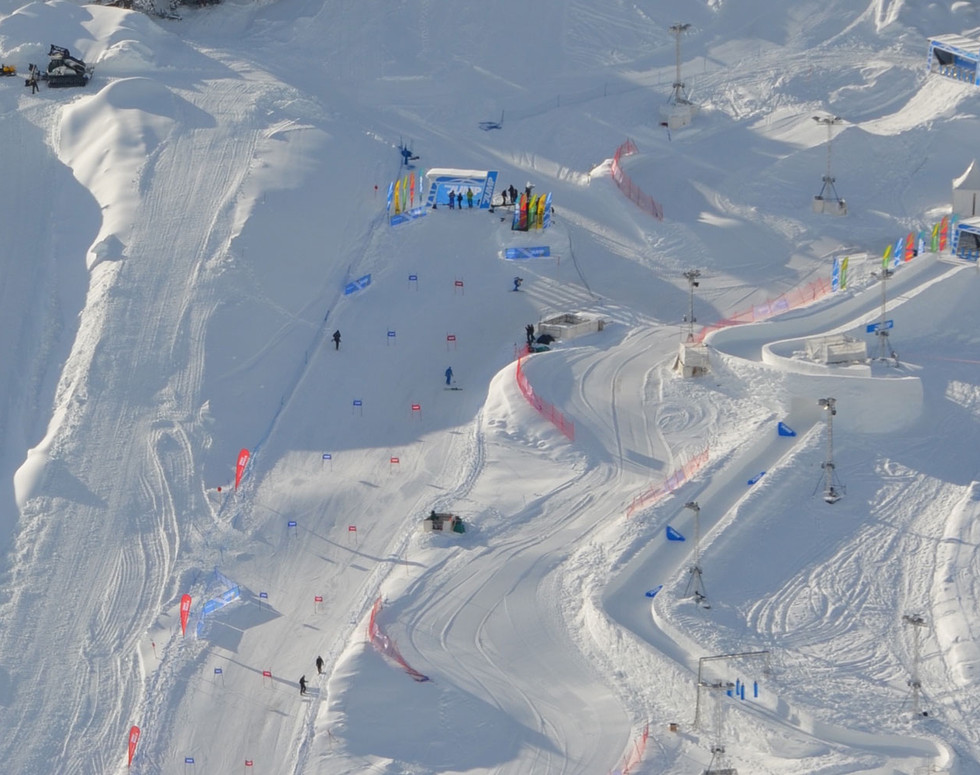 mountain events winter - downhill - skiing