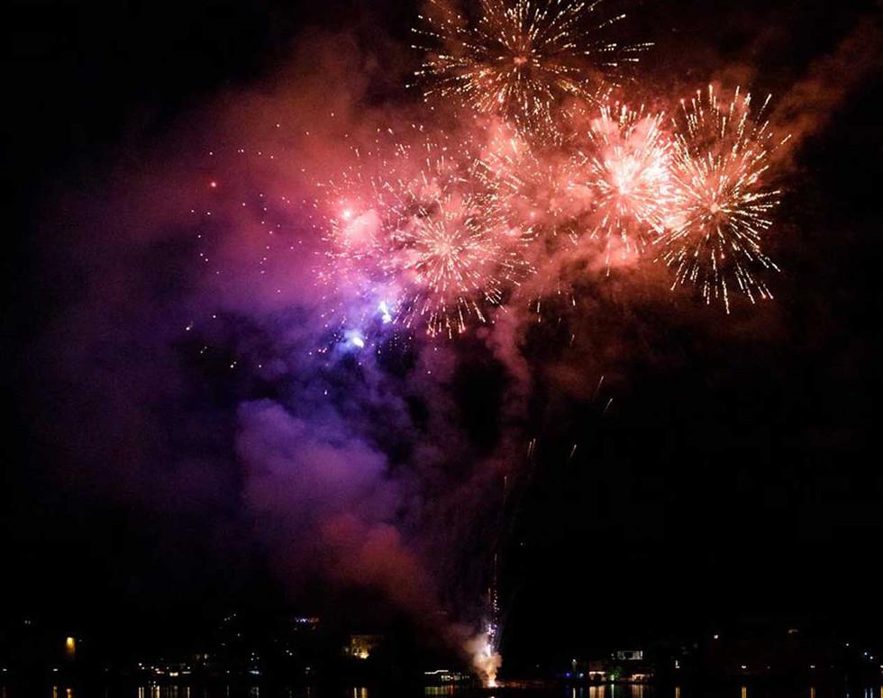 Private wedding fireworks