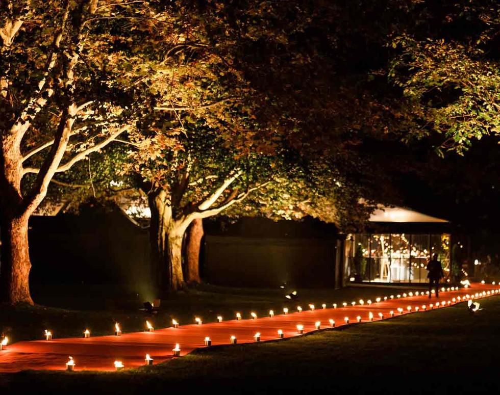 Private wedding red carpet