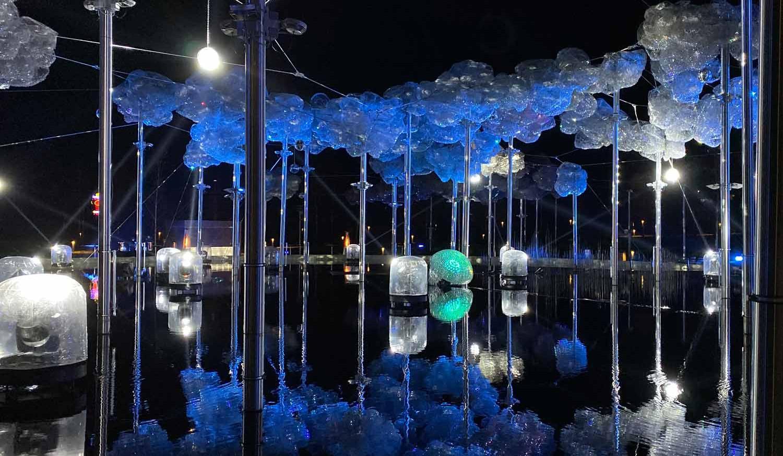 Lichtfestival Scheinwerfer
