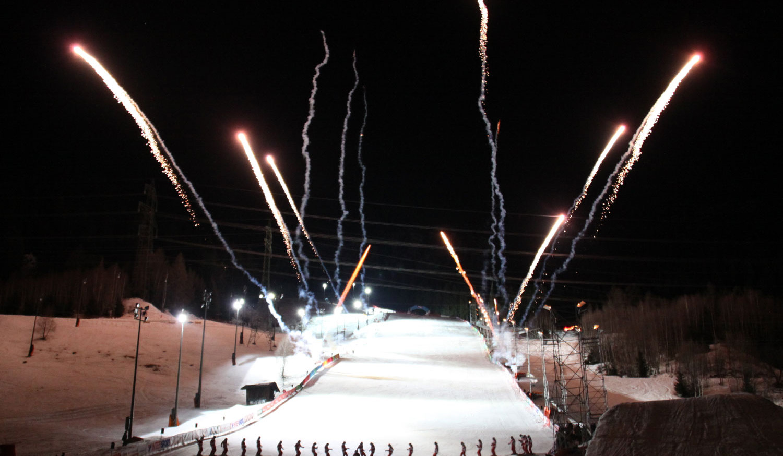mountain events winter, Feuerwerk