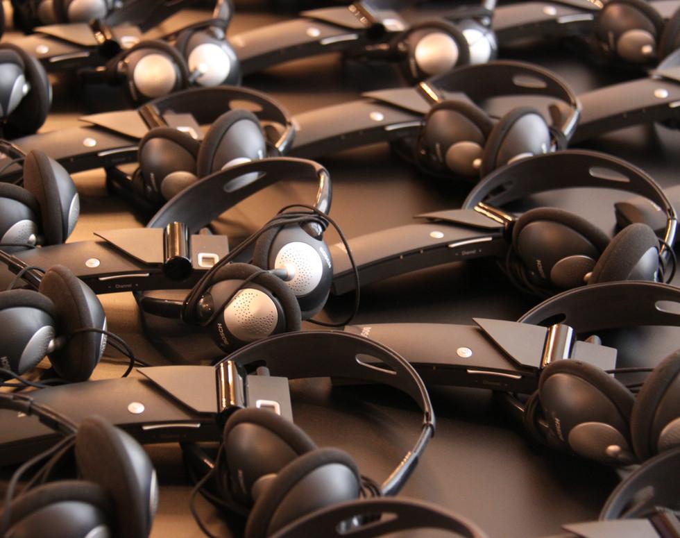 Interpreting equipment, headphones