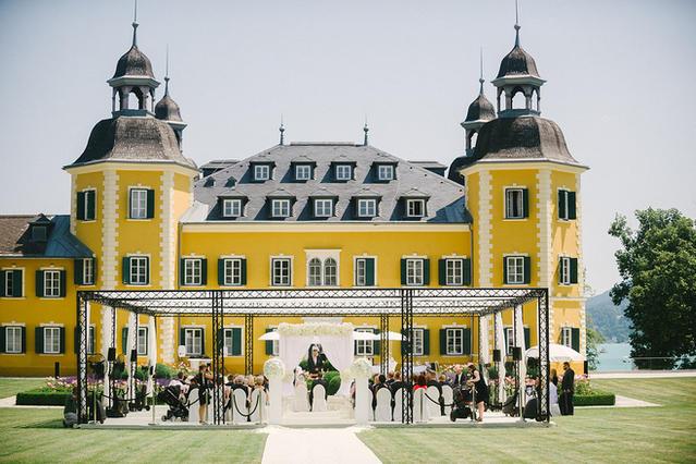 Wedding in a castle, magic