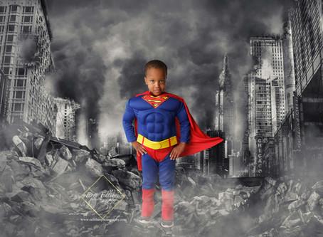 Lee's Summit Child Photographer-Superhero Petite Sessions