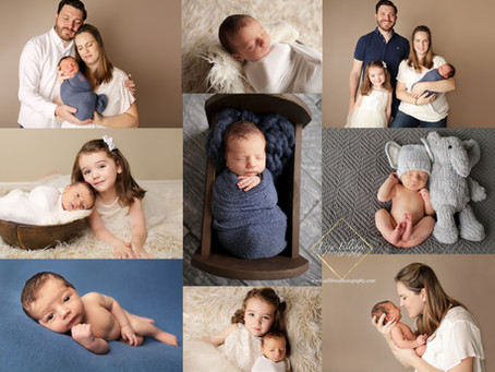 Kansas City Newborn photographer- Boy and blue