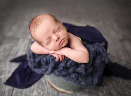 Kansas City Newborn Photographer- Baby boy- bold colors