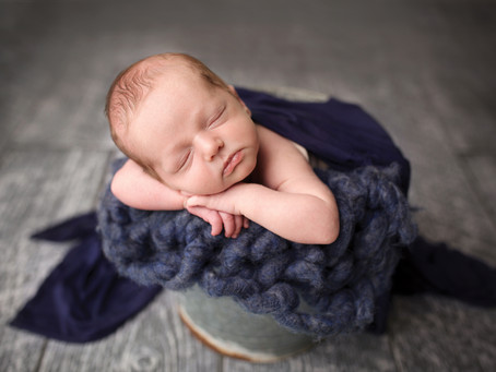 Kansas City Newborn Photographer- Baby boy- bold colors