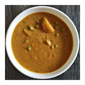 Peas and Potato in Cashew Tomato Gravy | Yoga of Eating