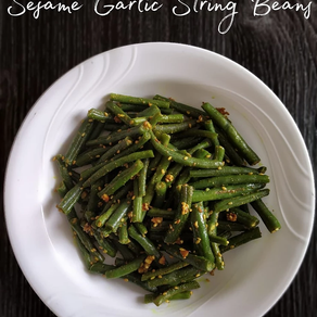 Sesame Garlic String Beans | Yoga of Eating