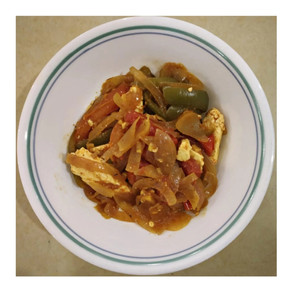 Vegan Tofu with Bell Peppers and Mix Veggies   Yoga Of Eating