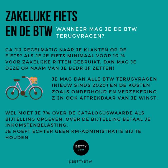 Zakelijke fiets en de btw