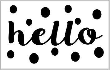 Doormat - Hello dots.JPG