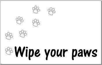 Doormat - Wipe your Paws.JPG