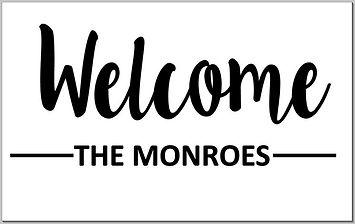 Doormat - welcome the monroes.JPG