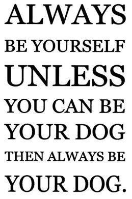Always be yourself - dog.JPG