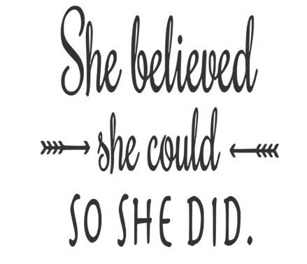 She believed.JPG