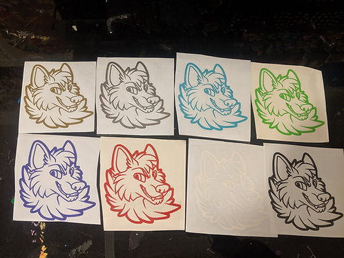 Wolf - Vinyl sticker