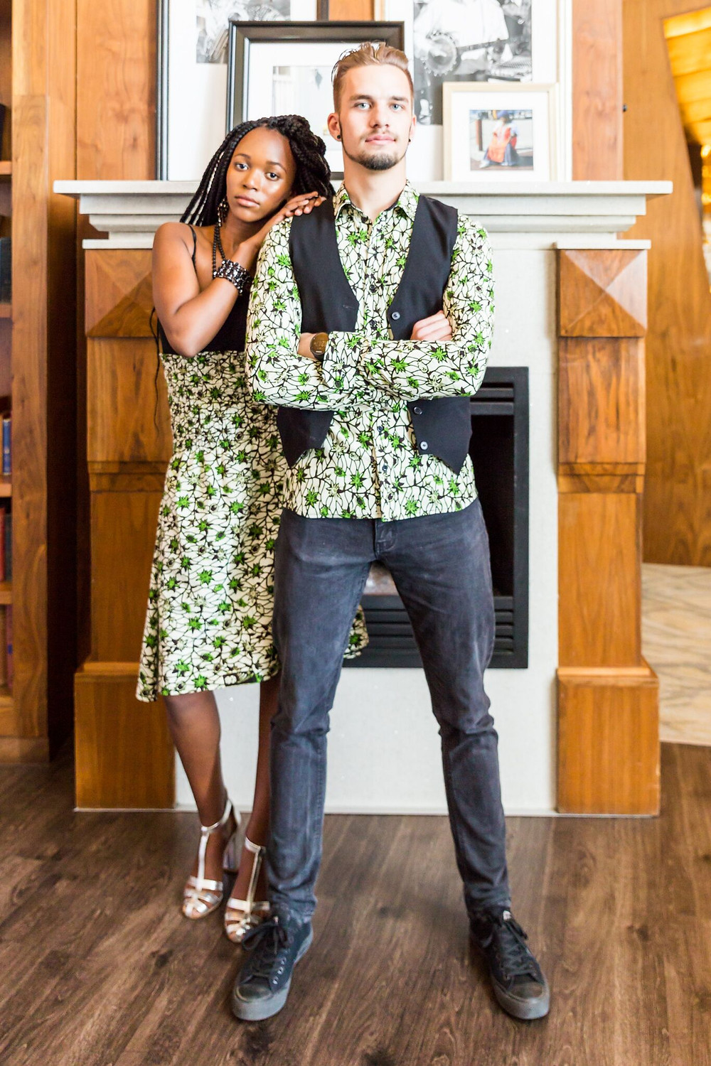 Tricia's Tailoring designs matching his & hers look for CAFB 2017: Creative Angels Fashion Benefit