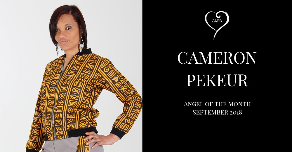 Creative Angels Fashion Benefit Angel of the Month September 2018 is Cameron Pekeur