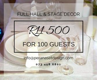 Perana Set Design offers a bargain deal on event decor