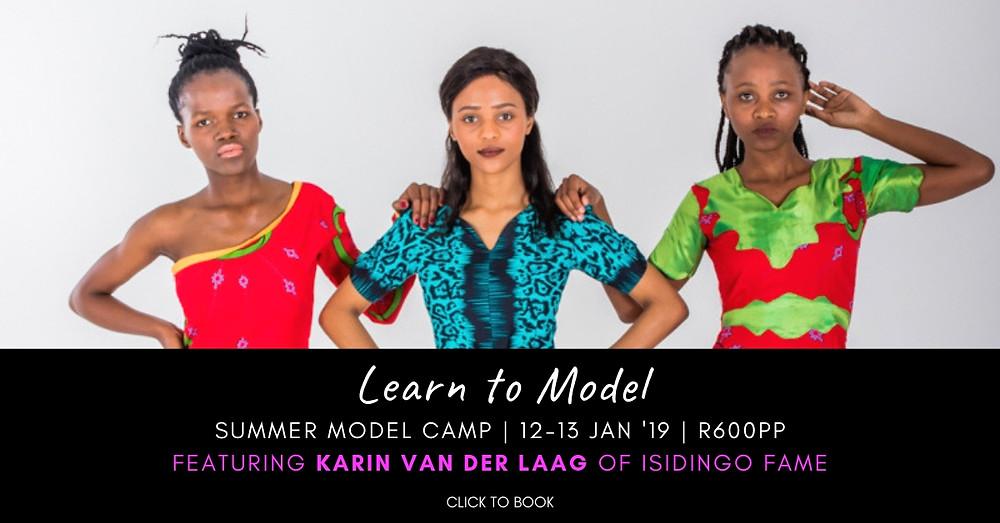 CAFB Summer Model Camp features SA Celeb from 'Isidingo'