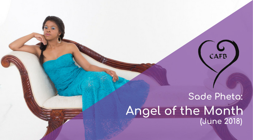 Sade Pheta wins Angel of the Month at Creative Angels Fashion Benefit