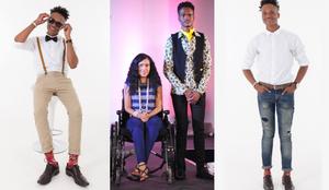 Mr SA Contestant models at CAFB 2019 The Rainbow Nation Fashion Show