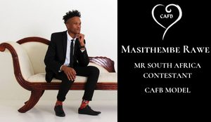 MR SA CONTESTANT MODEL AT CAFB 2019 RAINBOW NATION FASHION SHOW