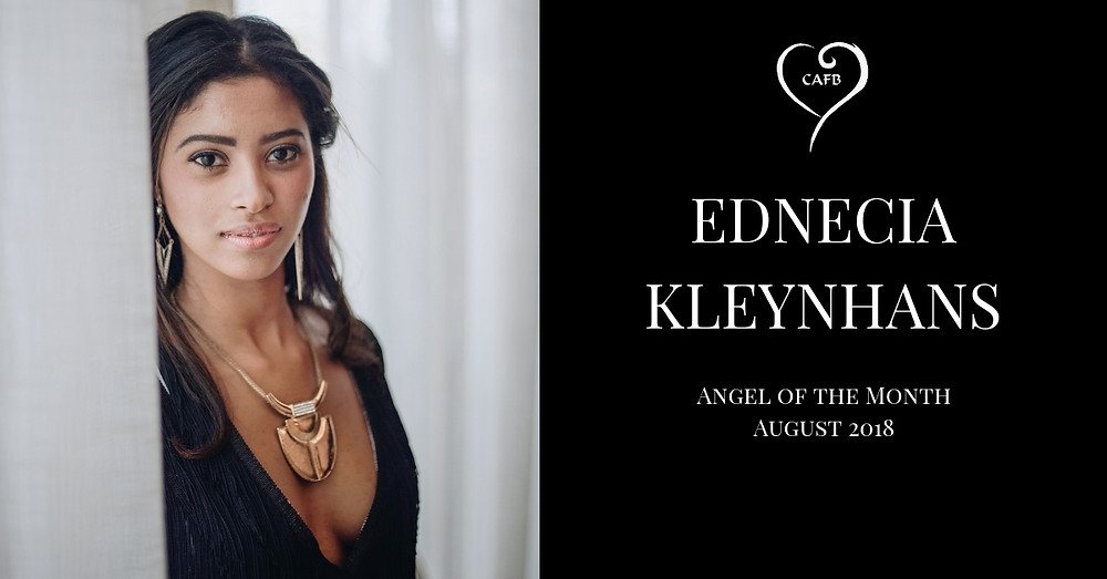 Ednecia Kleynhans voted Angel of the Month at Creative Angels Fashion Benefit