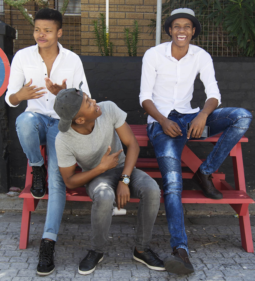 Male model trainees at CAFB model training workshop in Cape Town
