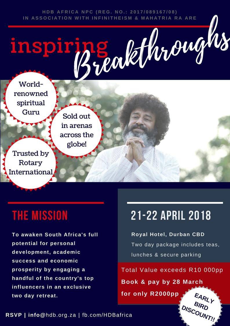 Mahatria Ra to host Spiritual Retreat in Durban, KZN