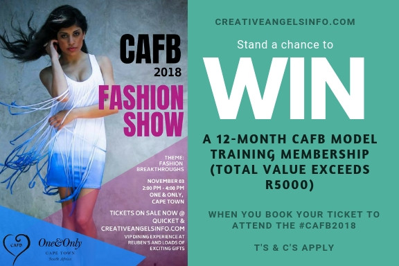 Win a CAFB 12-month model training programme - book tickets to the show