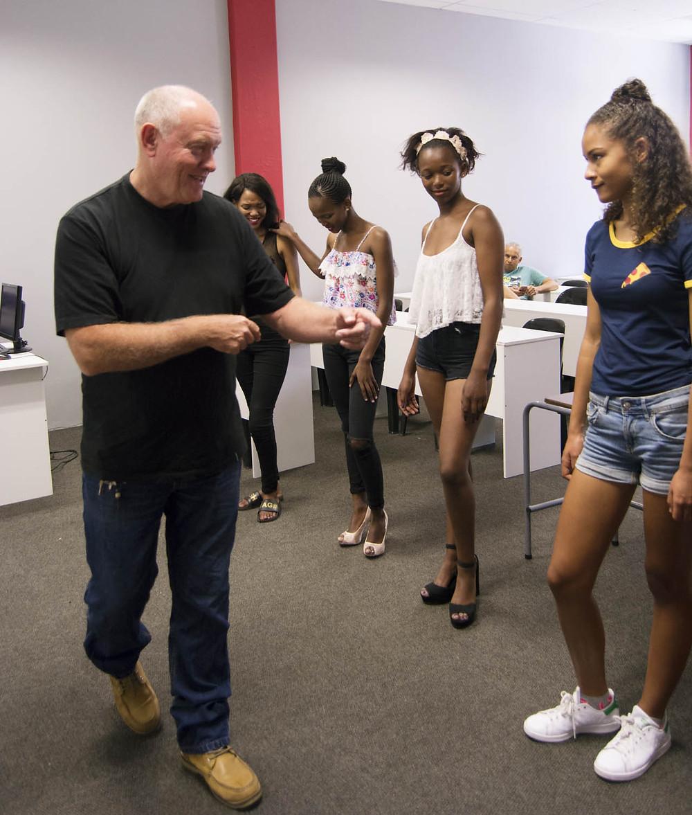 Doug Carlson of Mira 9 facilitates a CAFB model workshop at City Varsity Cape Town