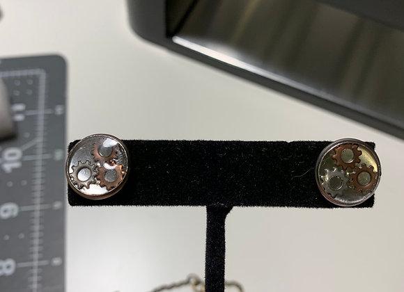 Gear Cabochon Post Earrings