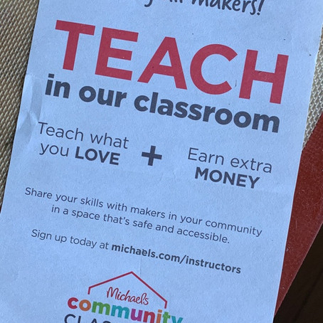 Michael's Has A Maker Teaching Program And Makers Should Avoid It.