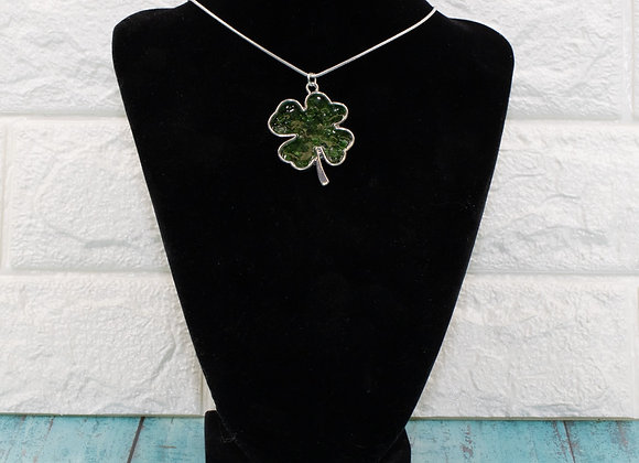 Shamrock Resin Pendant Necklace
